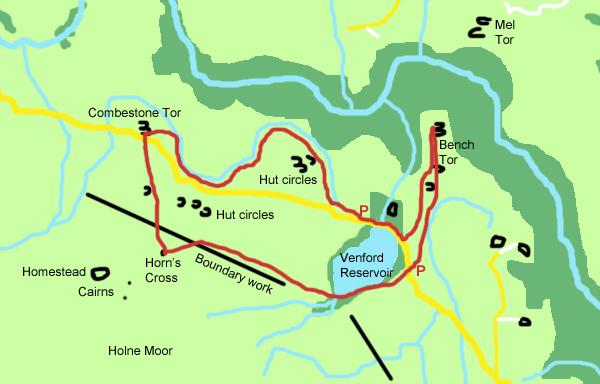 BenchTor map copyright Gillian Adams