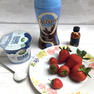 Strawberries and quark