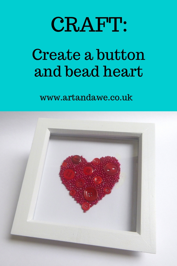 Create a button and bead heart