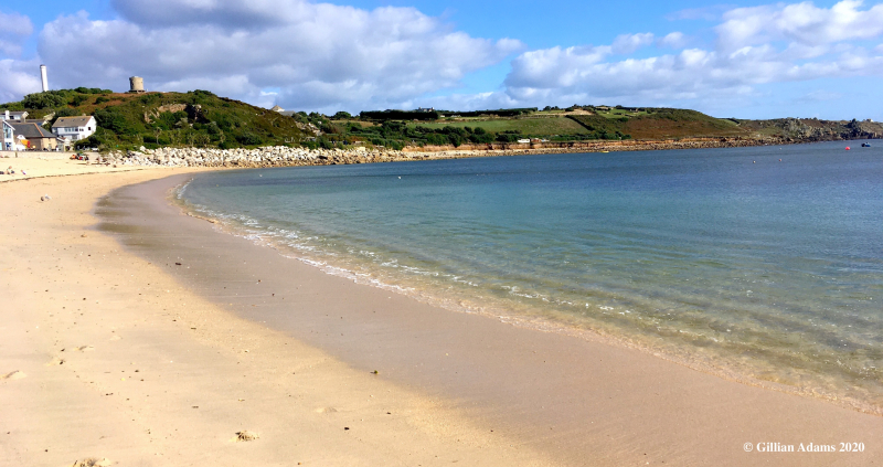 Porthcressa beach, St Mary's